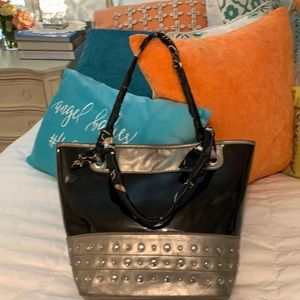 Relic Handbag w/braided silk handles.
